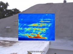 Wet roof infrared picture